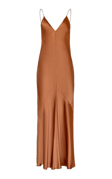Liquid Bias-Cut Satin Slip Dress