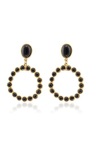 Happy Onyx 22K Gold-Plated Earrings