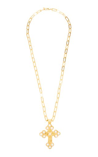 Croix Pearl Gold-Plated Necklace