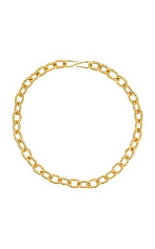 Atlantis 22K Gold-Plated Brass Necklace