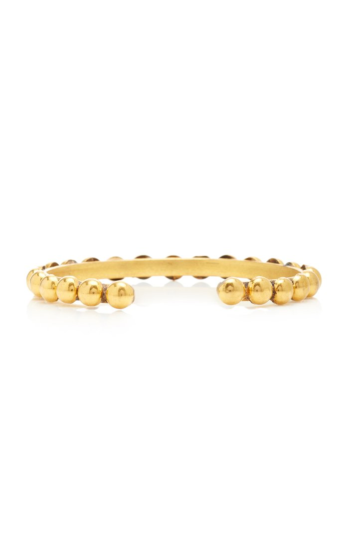 Dots Gold-Plated Cuff