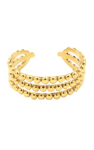 Thalita 22K Gold-Plated Brass Cuff