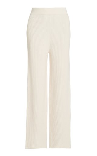 Ribbed Cashmere Cropped Pants