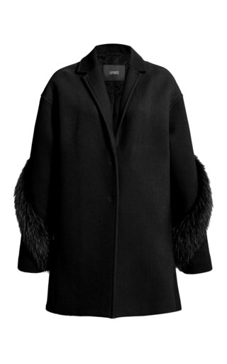 Fur-Trimmed Wool-Cashmere Coat