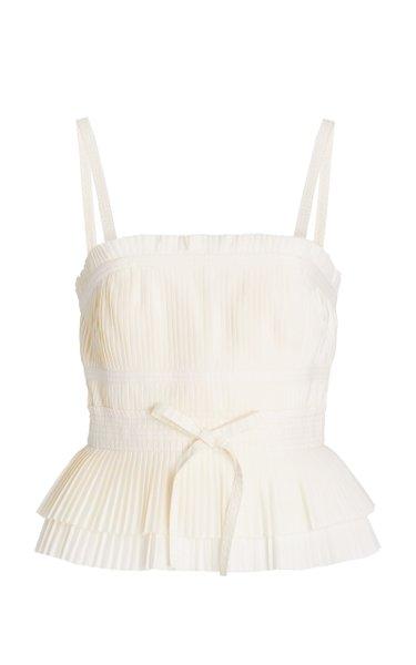 Bea Tiered Cotton Plisse Top