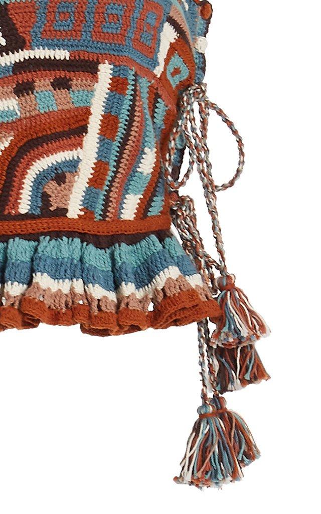 Luisa Crocheted Cotton Tank Top