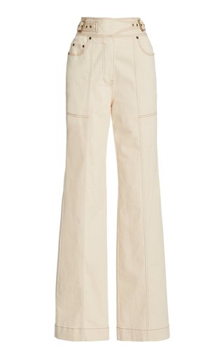 Albie Stretch High-Rise Straight-Leg Jeans
