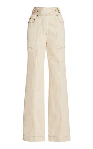 Albie Stretch High-Rise Straight-Leg Jeans