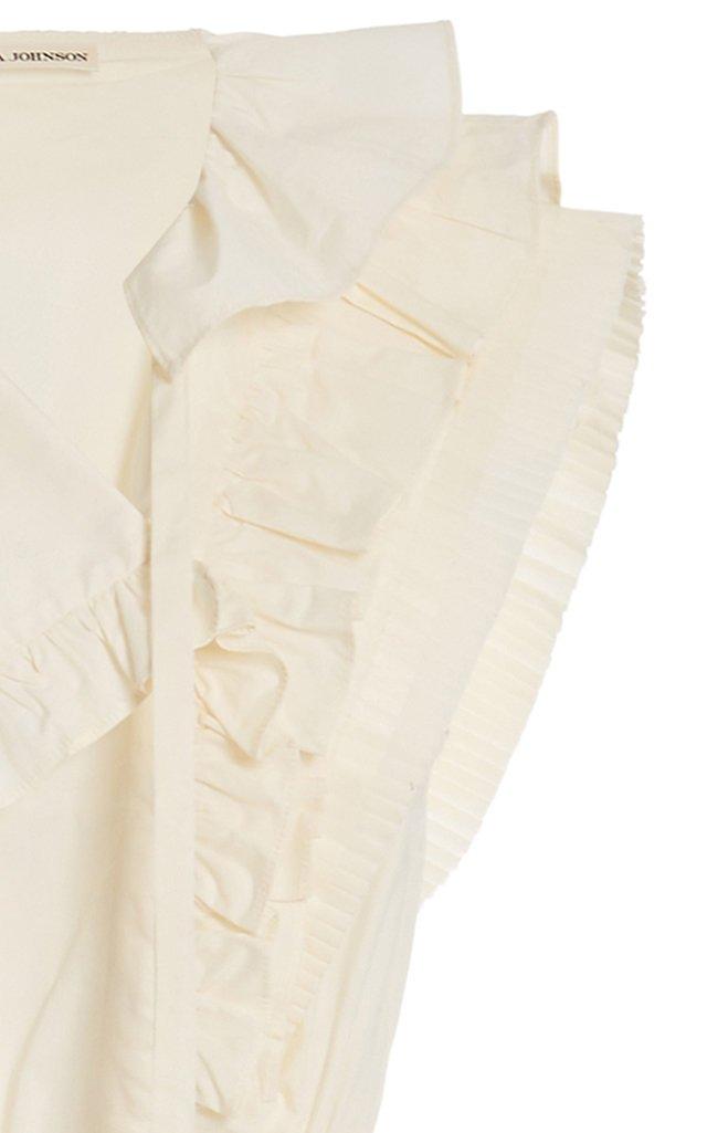 Acacia Ruffled Cotton Midi Dress