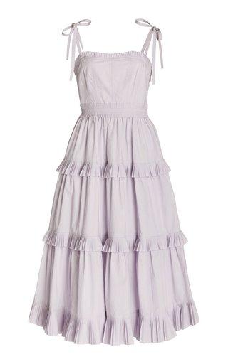 Lune Tiered Cotton Midi Dress