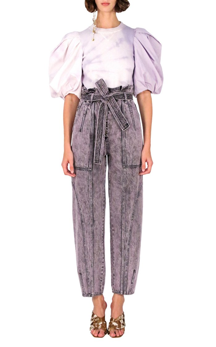 Brier Distressed High-Rise Straight-Leg Jeans