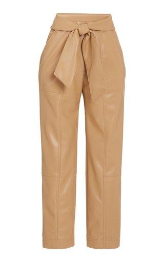 Tessa Tie-Detail Vegan Leather Pants