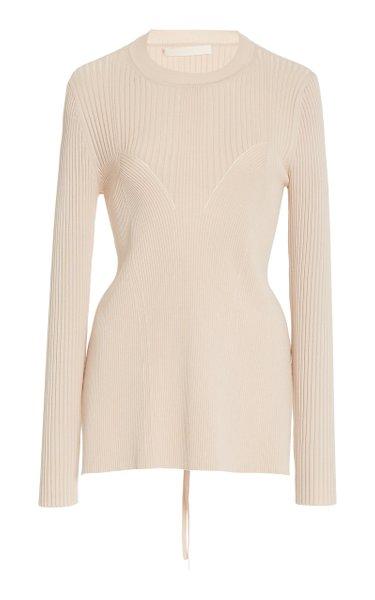 Arwen Ribbed Open Back Knit Pullover