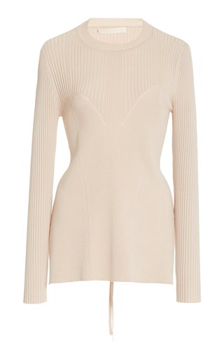 Arwen Ribbed Open Back Knit Pullover