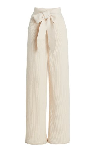 Tala Belted Crepe Cropped Pants
