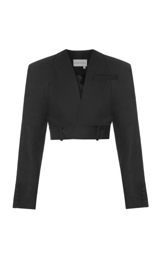 Crepe Cropped Blazer