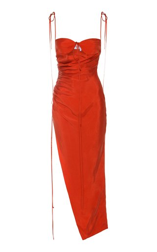 Cutout Tie-Detail Georgette Dress