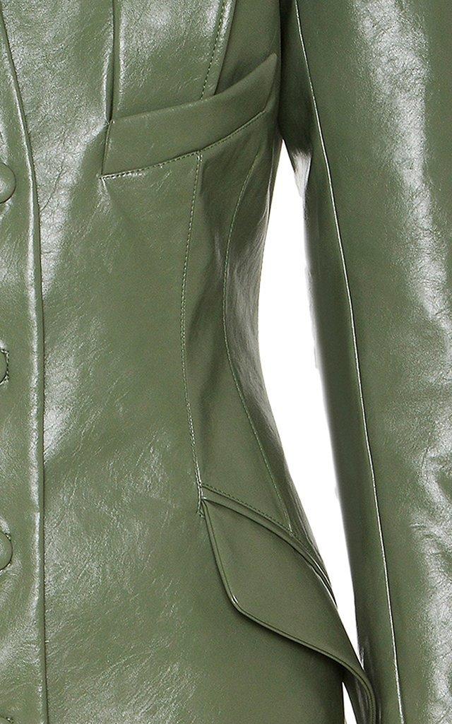 Vegan Leather Coat