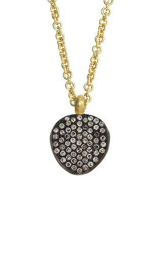 18K Yellow Gold Pavé Diamond Necklace