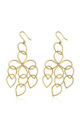 Pear Loop 18K Yellow Gold Earrings