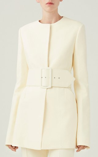 Belted Cotton Blazer