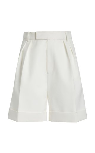 Magdeline Pleated Twill Shorts