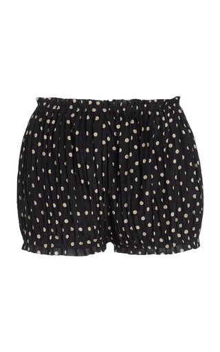 Hilary Polka-Dot Silk Shorts