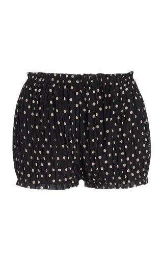 Hilary Polka-Dot Silk Shorts