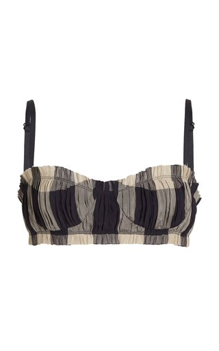 Indira Plaid Bra Top