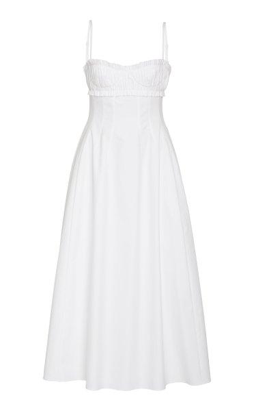 Felicia Smocked Cotton Dress