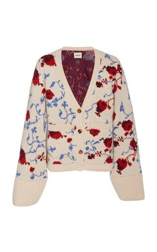 Scarlet Jacquard Knit Cardigan