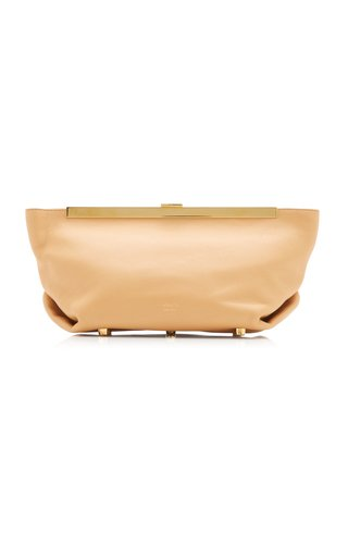 Aimee Calf Leather Clutch