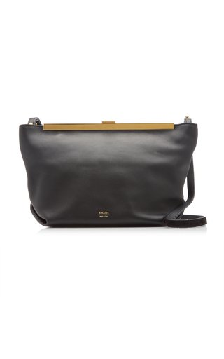 Augusta Calf Leather Envelope Crossbody Bag