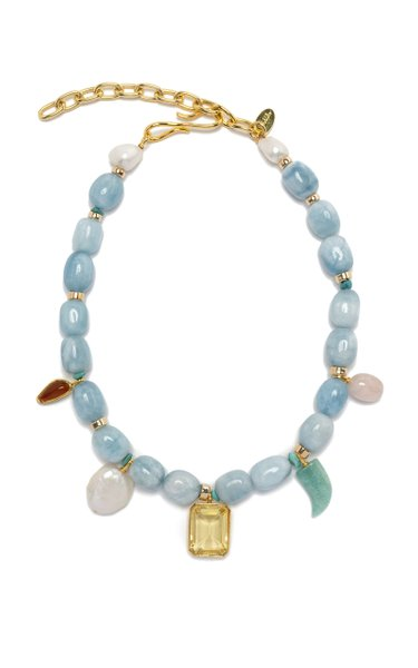 Basque Multi-Charm Beaded Necklace
