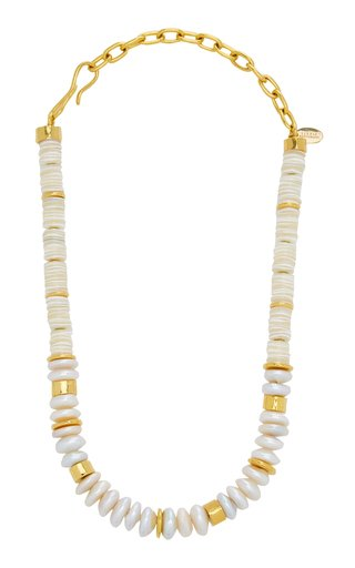 Refresh Gold-Plated Bead and Pearl Necklace