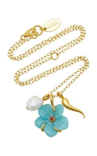 Blue Daisy Oasis Pendant Necklace