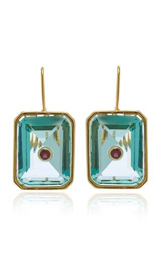 Tile Brass Earrings