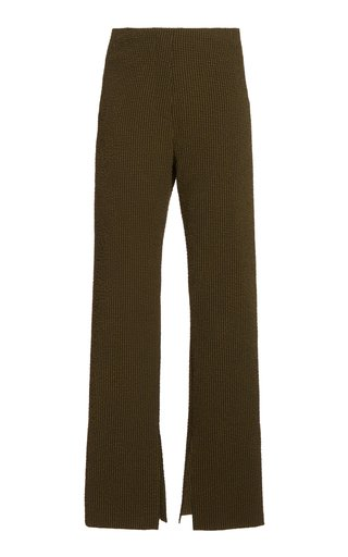Tabbie Checked Knit Flared Pants