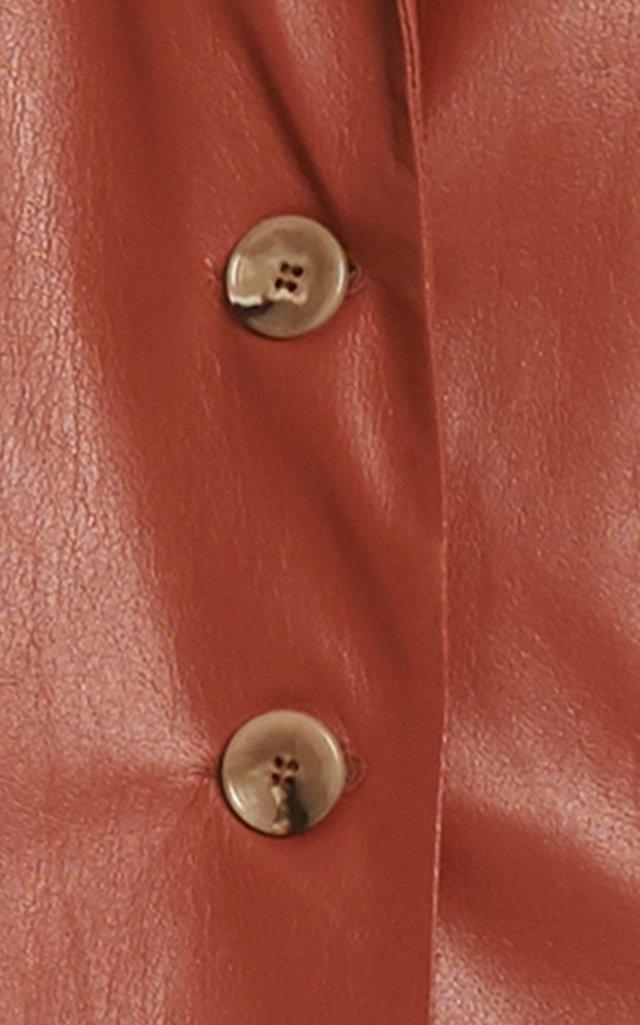 Evan Faux-Leather Blazer