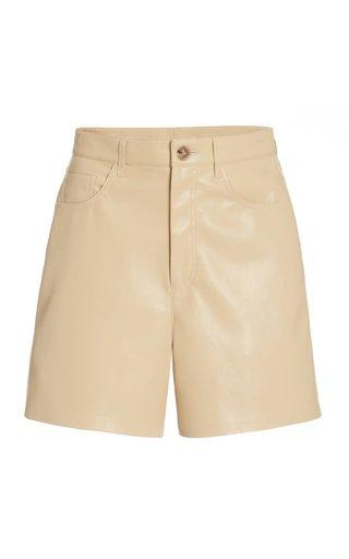 Leana Faux-Leather Shorts