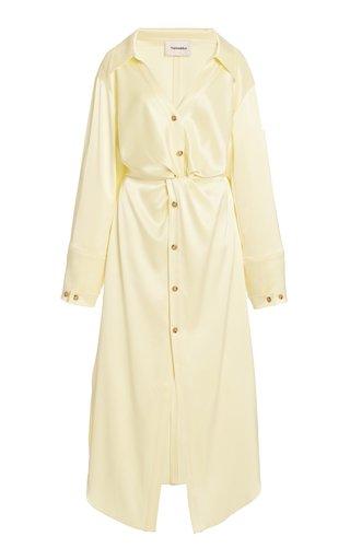 Ayse Satin Shirt Dress
