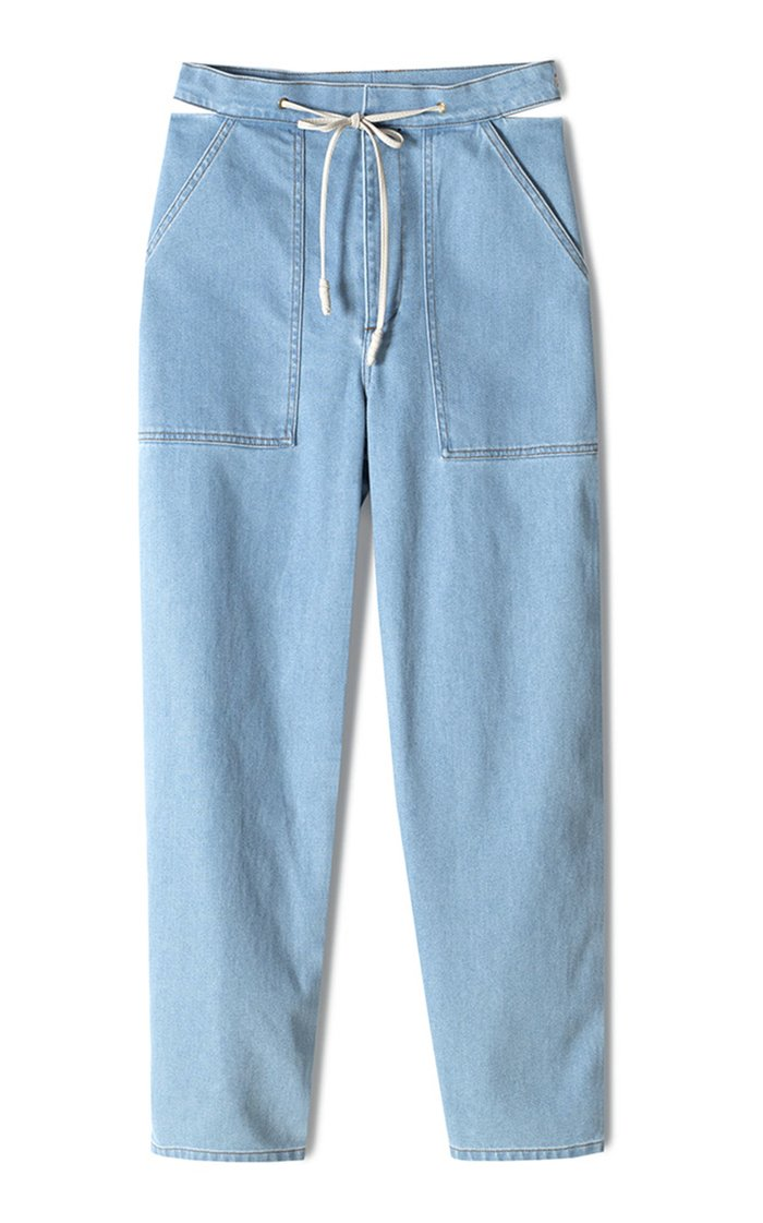 Chace Stretch High-Rise Straight-Leg Jeans