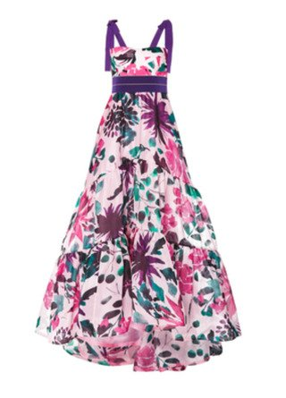 SpecialOrder-M'O Exclusive Floral Aviva Dress-MM