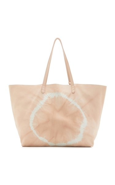 Tie Dyed Leather Tote