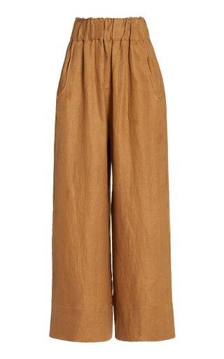 Universal Linen-Twill Wide-Leg Pants