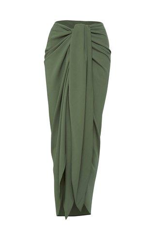 Draped Georgette Wrap Skirt