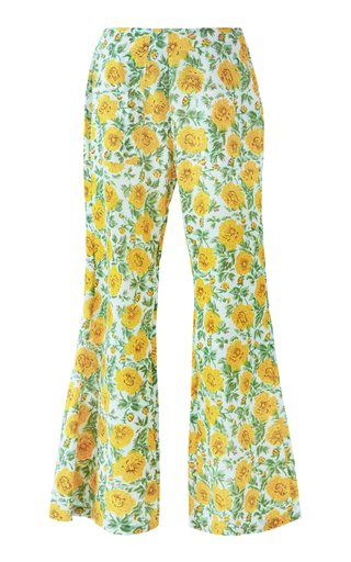 Charlie Printed Cotton Wide-Leg Pants