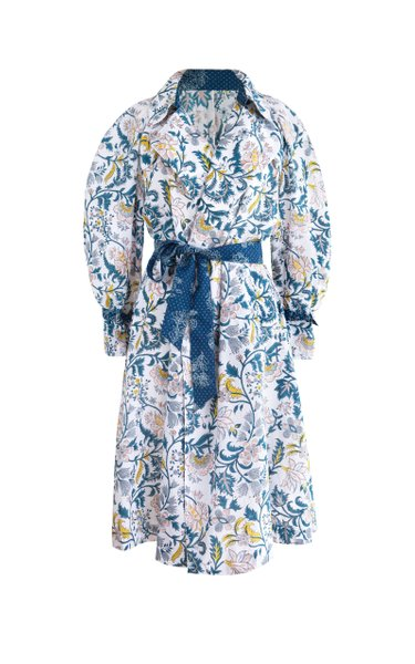 Anemone Belted Cotton Duster Coat