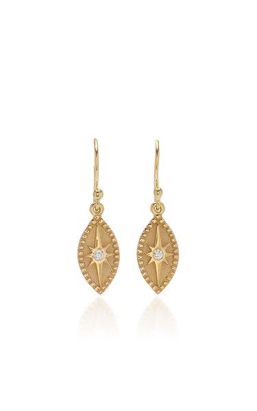 Baby Marquise 18K Yellow Gold Diamond Earrings