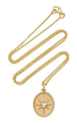 Oval Star 18K Yellow Gold Diamond Necklace